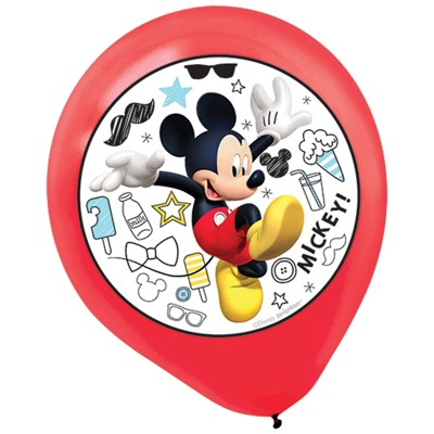 Birthday Express Mickey Mouse On The Go Latex Balloons - 5 Pack