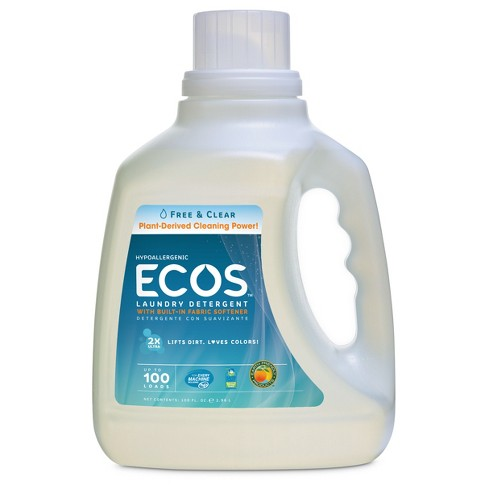 ECOS Free and Clear Liquid Laundry Detergent - 100 fl oz - image 1 of 2