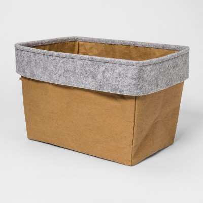 Fabric Bin Khaki & Gray - Pillowfort™