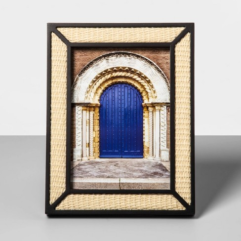 5 X 7 Wood Overlay Frame With Woven Bamboo Neutral Opalhouse
