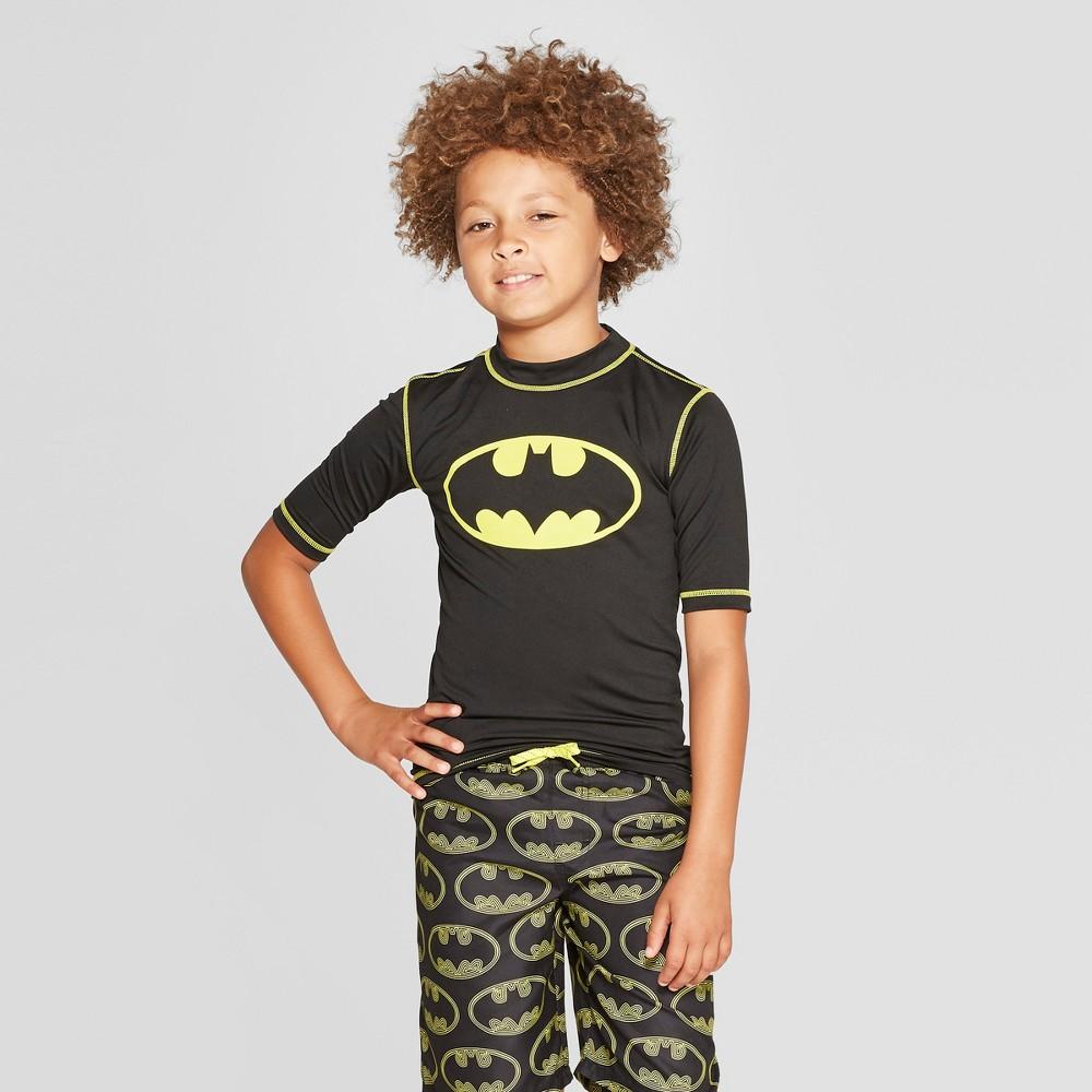 Boys' Batman Rash Guard - Black M