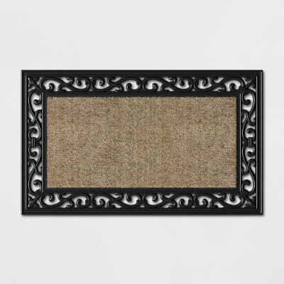 1'6 X2'6 /18 X30  Rubber Scroll With Coir Doormat - Threshold™
