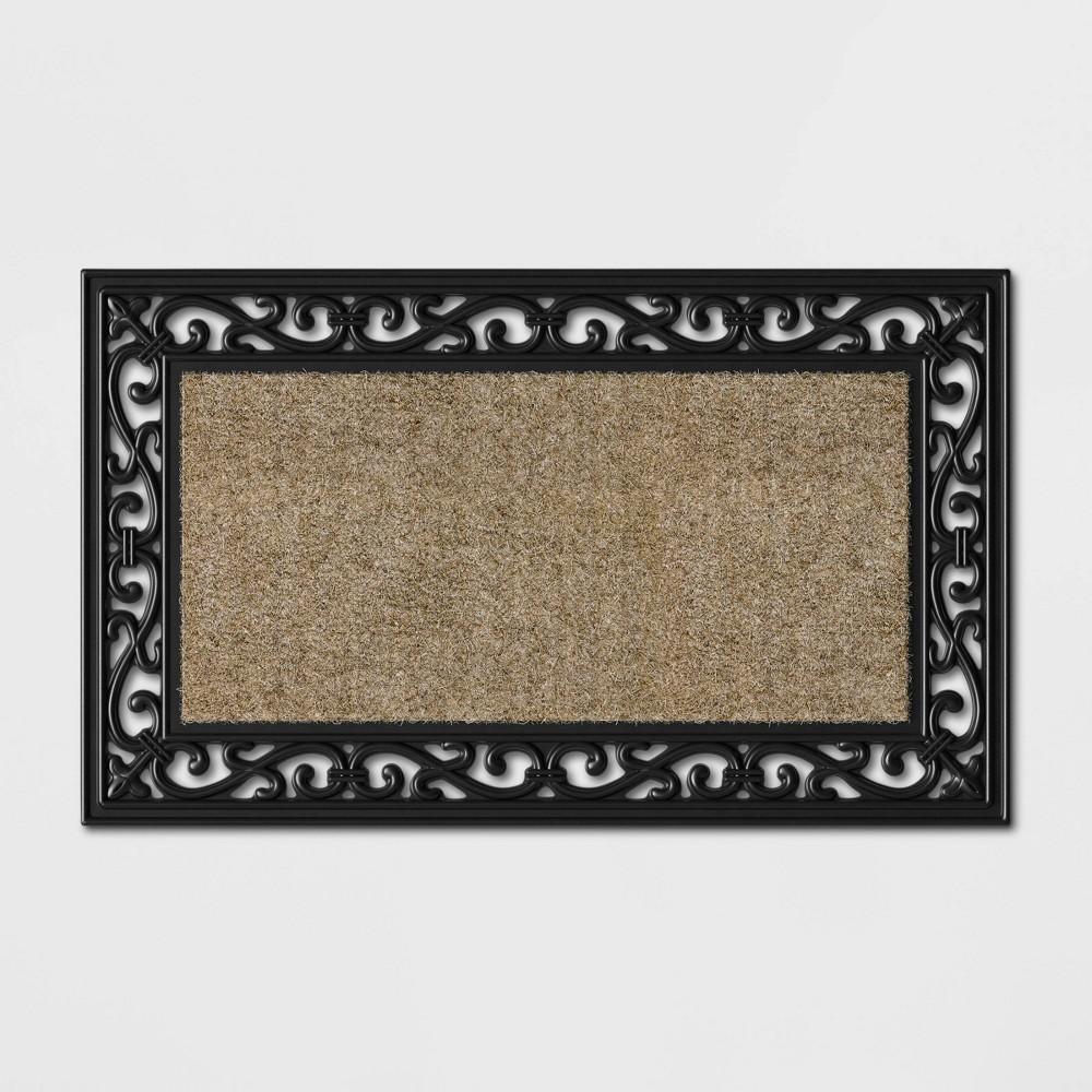 Rubber Scroll With Coir Doormat