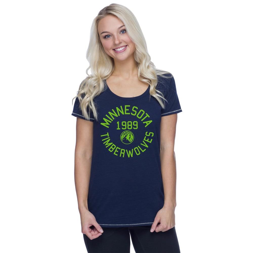 Minnesota Timberwolves Women's Phys Ed Scoop Neck Slub T-Shirt S, Multicolored