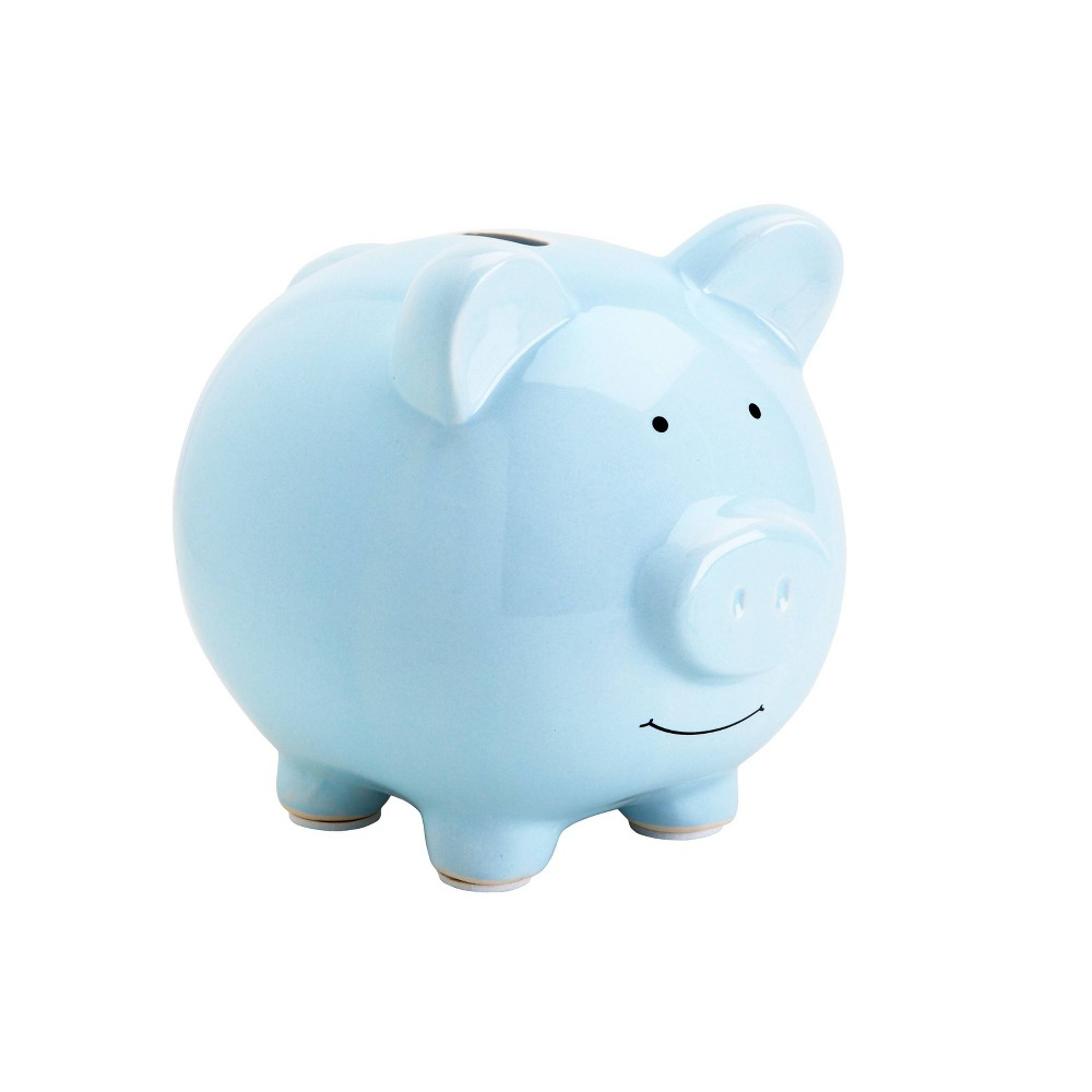 Image of Pearhead Ceramic Piggy Bank - Blue