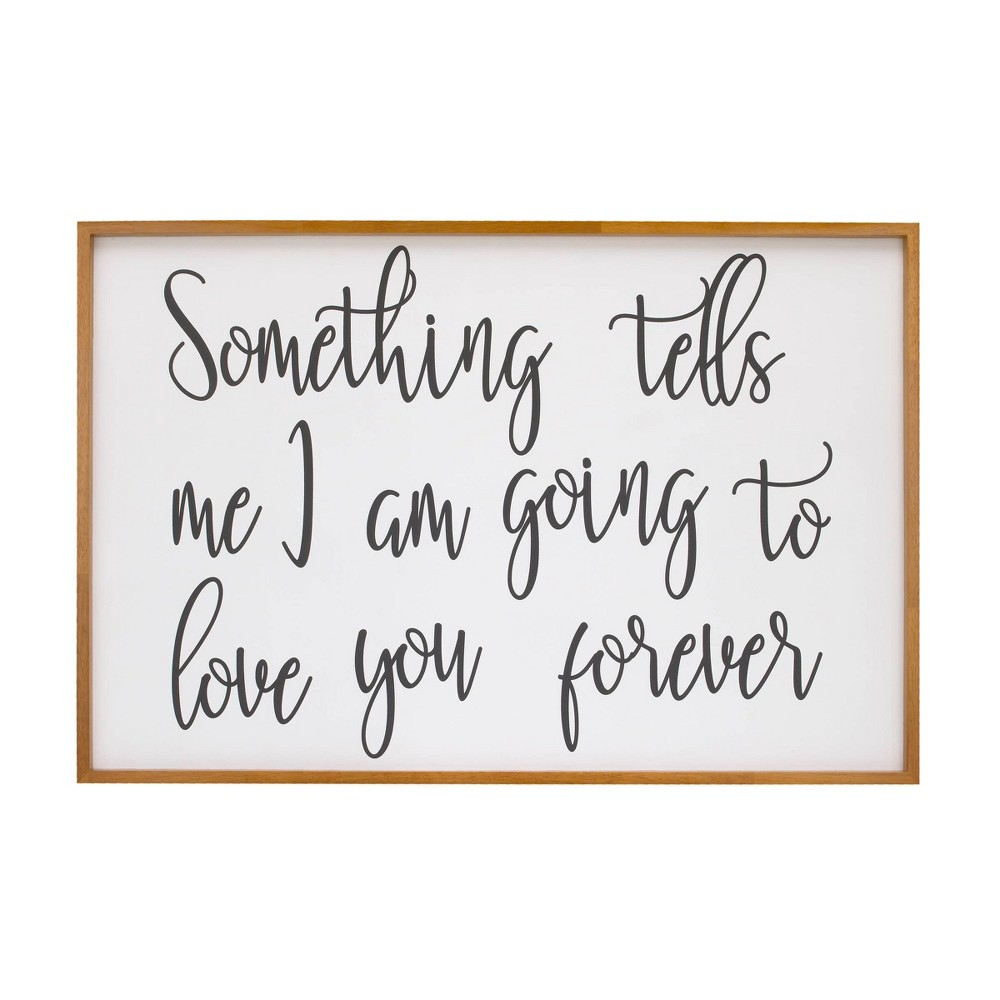 Image of Nojo Something Tells Me I Am Going to Love You Forever Decorative Wall Sculpture