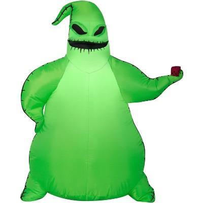 Gemmy Airblown Green Oogie Boogie Disney, 3.5 ft Tall, green