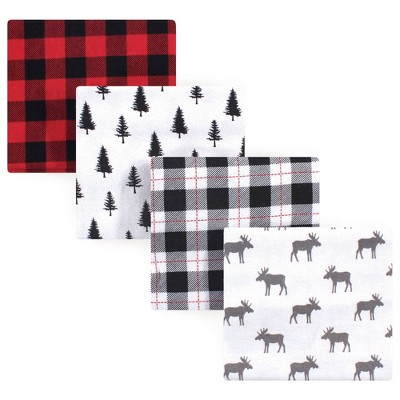 Hudson Baby Unisex Baby Cotton Flannel Receiving Blanket - Moose One Size