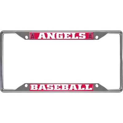 MLB Los Angeles Angels Stainless Steel License Plate Frame