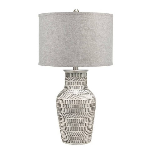 Greyton Table Lamp White (Includes Energy Efficient Light Bulb) - Cresswell Lighting - image 1 of 4