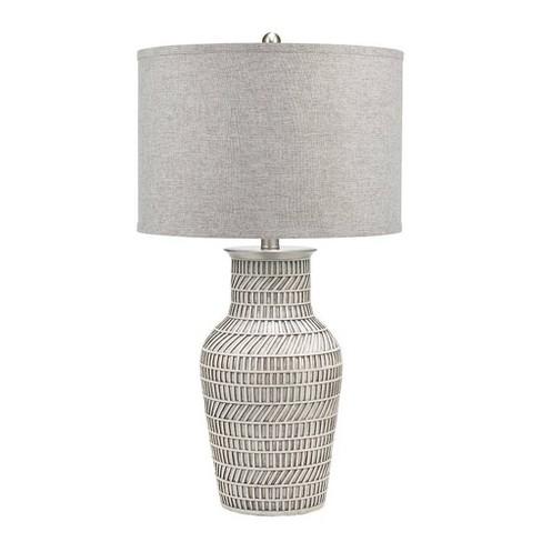 """32.5"""" Grayton Table Lamp White  - Cresswell Lighting - image 1 of 4"""