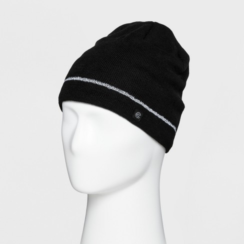 Men s Solid Reflective Beanie - CF - C9 Champion® Black One Size ... 015f3252949