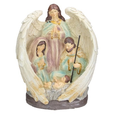 """Northlight 11.25"""" Holy Family and Angel Christmas Nativity Table Decoration"""