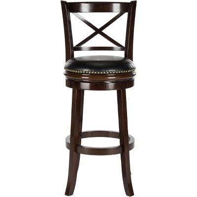 Butler Swivel Bar Stool - Cappuccino/Black - Safavieh