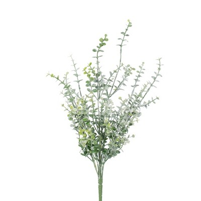 "Vickerman 18"" Artificial Green Mini Leaf Bush."