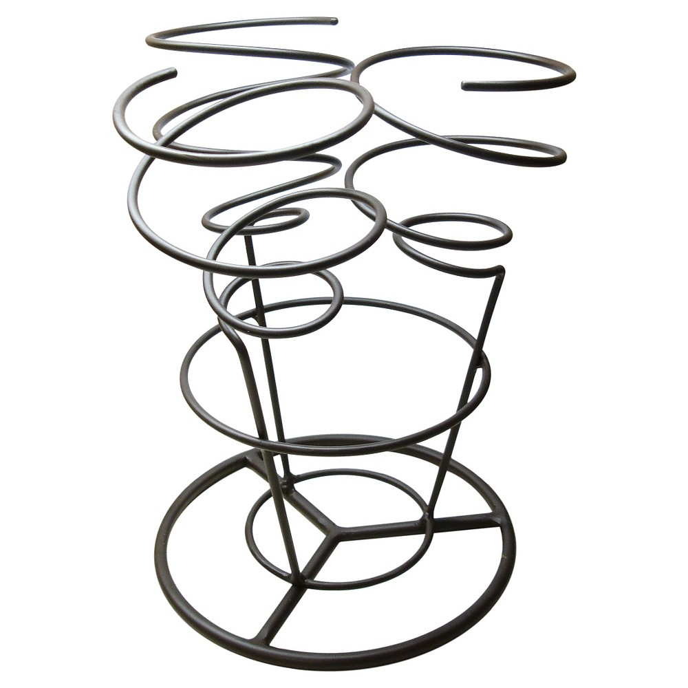Epicureanist Swirl Wine Rack, Black