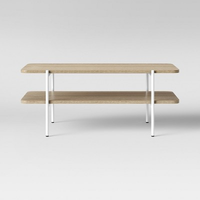Mandelin Wood/Metal Coffee Table Natural/ White - Project 62™