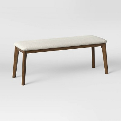 Astrid Mid-Century Dining Bench with Upholstered Seat Walnut - Project 62™