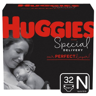 Huggies Special Delivery Hypoallergenic Diapers Jumbo Pack - Size Newborn (32ct)