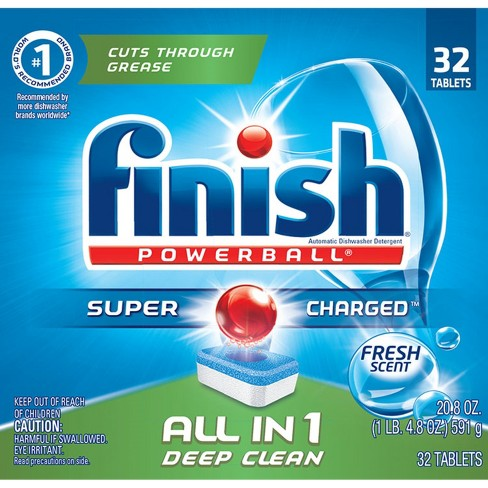 Finish PowerBall All-in-1 Dishwasher Detergent Tabs - image 1 of 8