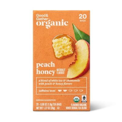 Organic Peach Honey Tea - 20ct - Good & Gather™