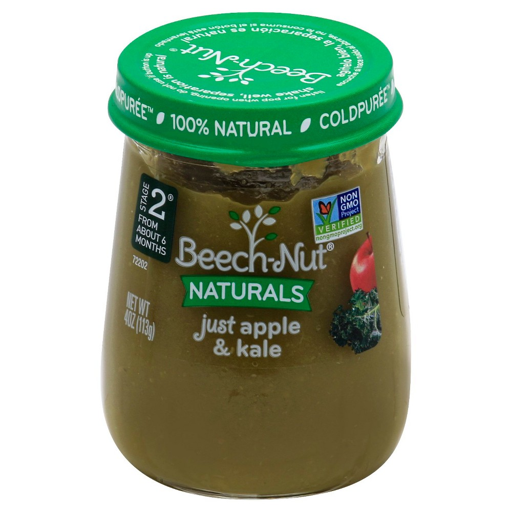 Beech-Nut Naturals Baby Food Apple & Kale Stage 2 (6+ Months) - 4oz