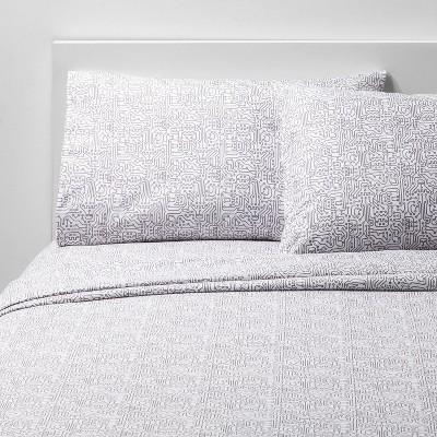 4pc Queen Circuit Crazy Microfiber Sheet Set - Pillowfort™