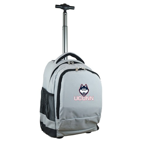 NCAA UConn Huskies Gray Premium Wheeled Backpack - image 1 of 6