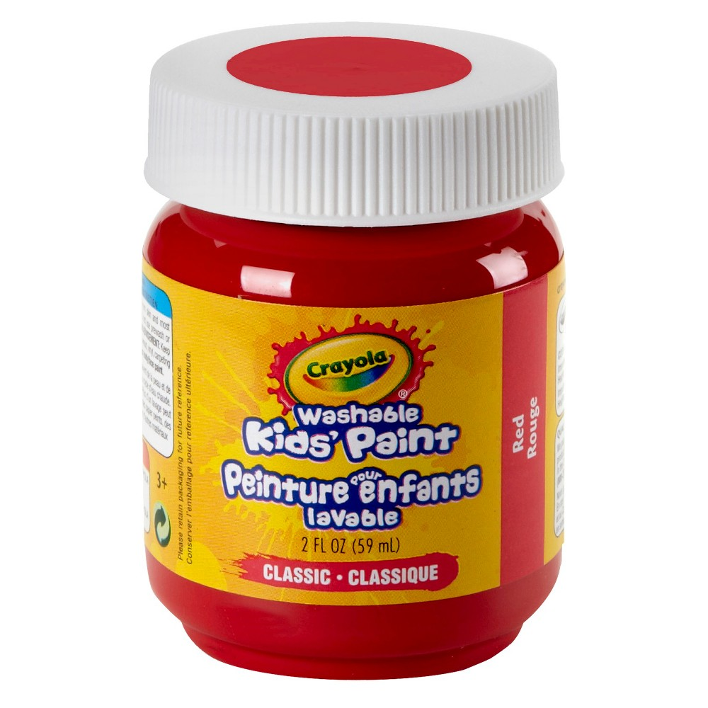 Crayola Washable Paints 2oz Red