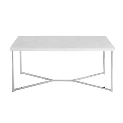 Glam Mid Century Modern Y Leg Rectangle Coffee Table - Saracina Home