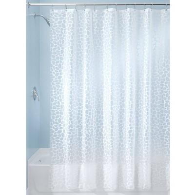 Set Of 2 Pebblz Peva Shower Curtain Liners White - iDESIGN
