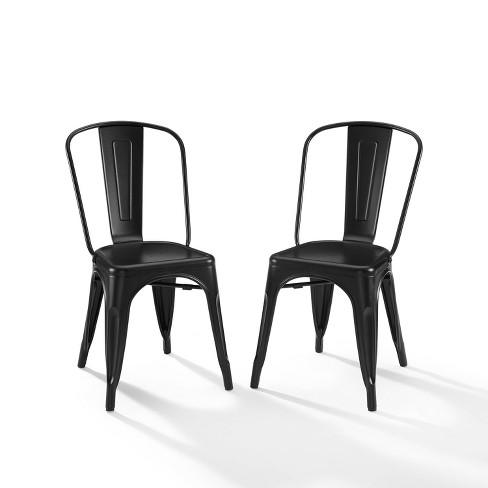 Amelia Metal Chair Matte Black