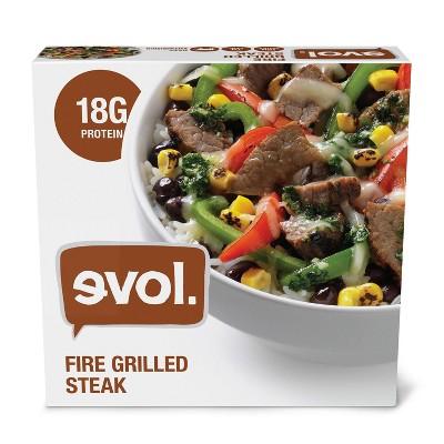 Evol Fire Grilled Frozen Steak Bowl - 9oz