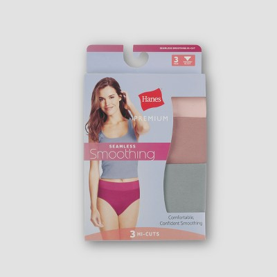 Hanes Premium Women's Smoothing Seamless 3pk High Cut Briefs - Colors Vary 5