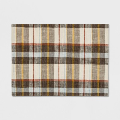 Plaid Placemat Cream - Threshold™