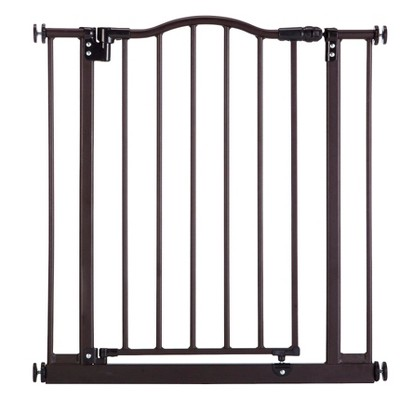 North States MyDog Windsor Arch Dog Gate - 28.5 H - Brown