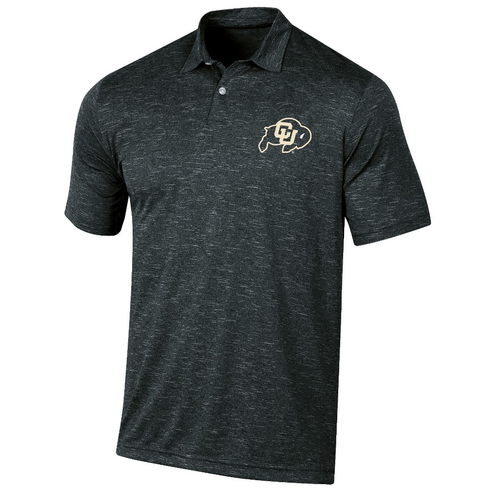 Colorado Buffaloes Men's Short Sleeve Twisted Jersey Polo Shirt - L, Multicolored
