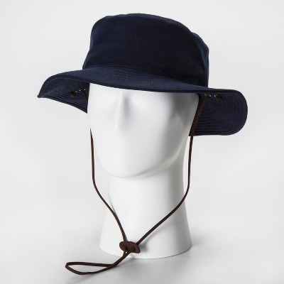 256422519f3 Men s Waxed Cotton Boonie Navy Floppy Hat - Goodfellow   Co™ Navy   Target