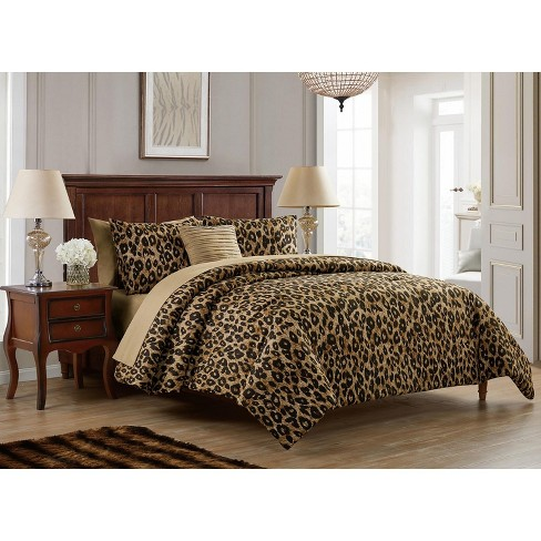 VCNY Home Cheetah Reversible Bed-in-a-Bag Comforter Set - Brown 8 Piece King - image 1 of 4