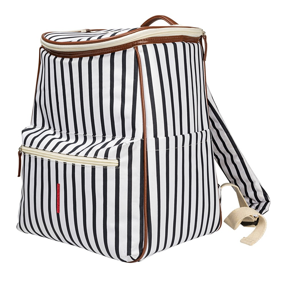 Cathy's Concepts Striped Backpack Cooler - I, Blue Brown White