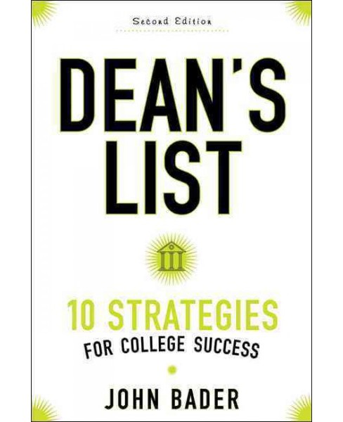 Dean's List : Ten Strategies for College Success (Paperback) (John Bader) - image 1 of 1