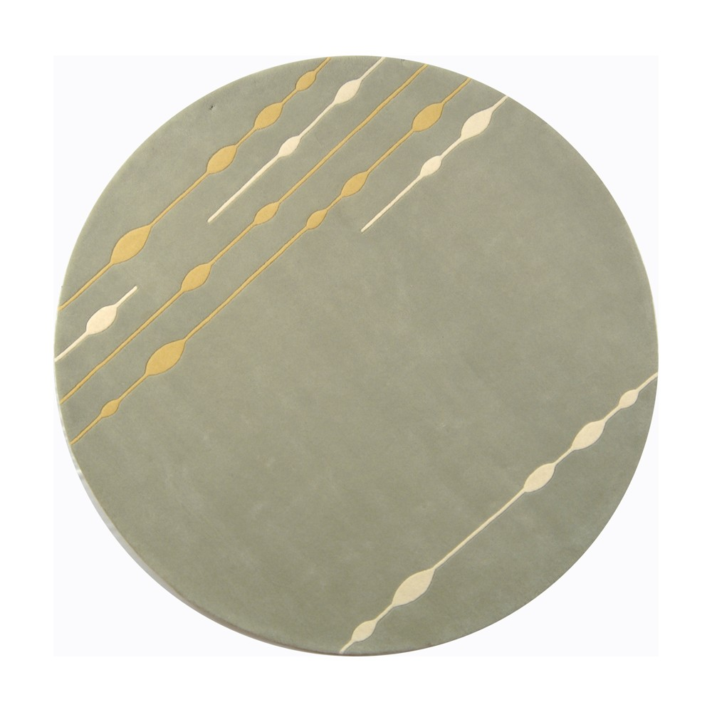 6' Tufted Shapes Round Area Rug Light Green/Light Gray - Safavieh, Gold