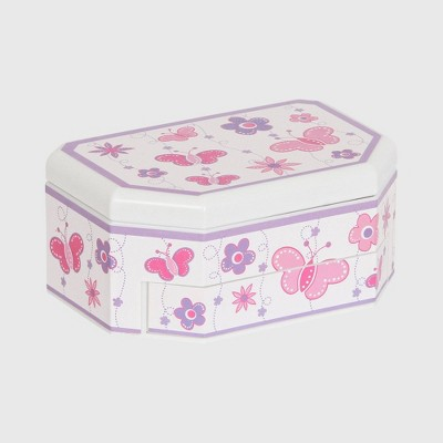 Mele Designs Nessa Girl's Musical Ballerina Jewelry Box - White