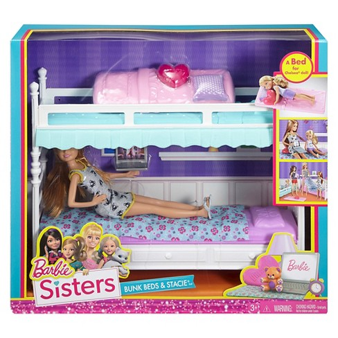 Barbie Sisters Stacie Doll With Bunk Beds Giftset Target