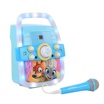 Zootopia Flashing Light Karaoke Microphone with Microphone