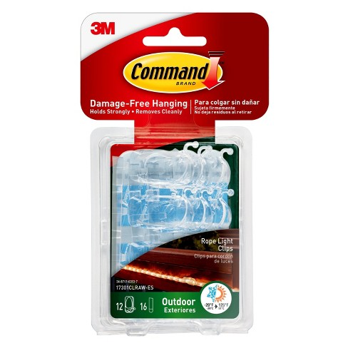 Command™ Outdoor Rope Light Clips, 12/pk - image 1 of 10