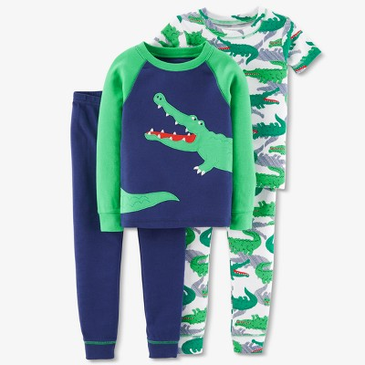 Baby Boys' 4pc Gator Pajama Set - Just One You® made by carter's Navy 12M