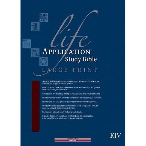 Life Application Study Bible-KJV-Large Print - (Leather_bound)