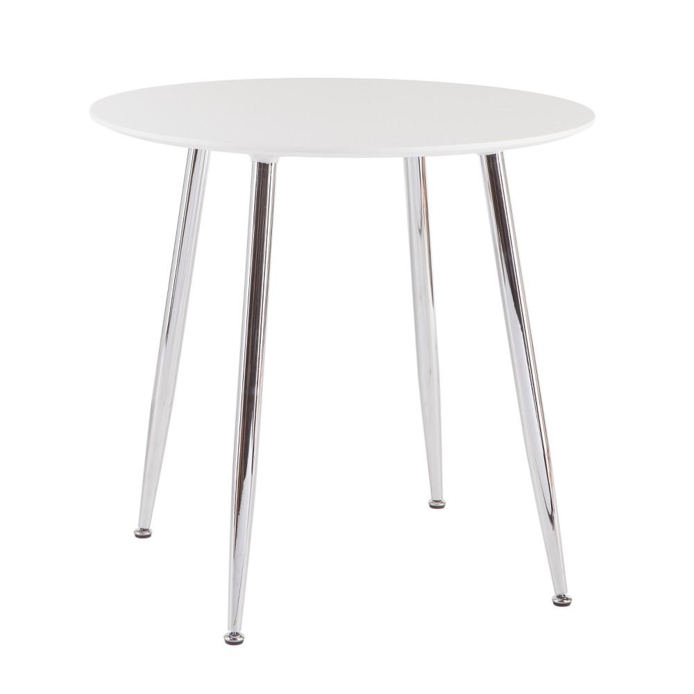 Morpheus Multifunctional Round Dining/Game Table White - Aiden Lane
