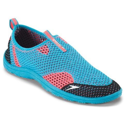Speedo Jr Girls' Surfwalker Knit Water Shoes - Blue (Medium) - image 1 of 3